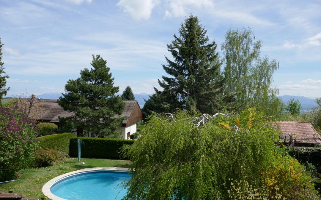 VENDUE – BASSINS belle villa jumeléeCHF 1'050'000.-